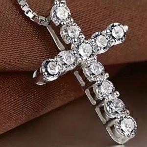 Jewelry - Crystal Cross & Chain